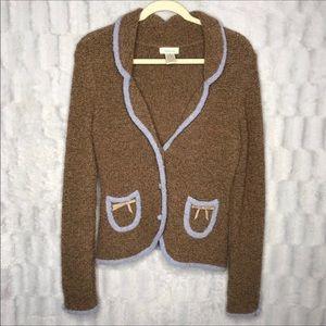 Anthropologie Sleeping On Snow Wool Sweater Blazer